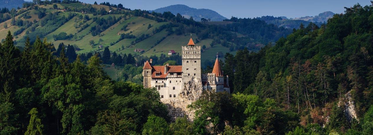 Die Burg Bran Dracula Schloss in Transsilvanien in Rumänen